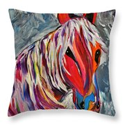 Cisco Abstract Horse  Throw Pillow by Janice Rae Pariza