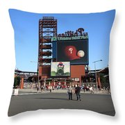 Citizens Bank Park - Philadelphia Phillies Throw Pillow by Frank Romeo