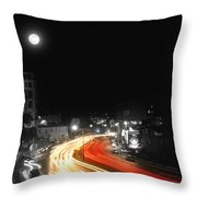 City And The Moon Throw Pillow by Taylan Soyturk