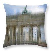 City-Art BERLIN Brandenburg Gate Throw Pillow by Melanie Viola