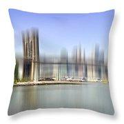 City-art Manhattan Skyline I Throw Pillow by Melanie Viola