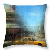 City-Art MIAMI BEACH Art Deco Throw Pillow by Melanie Viola
