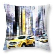 City-Art TIMES SQUARE II Throw Pillow by Melanie Viola