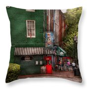 City - Baltimore - Fells Point Md - Bertha's And The Greene Turtle  Throw Pillow by Mike Savad