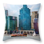 City - Baltimore MD - Harbor east  Throw Pillow by Mike Savad