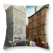 City - Chattanooga Tn - 1943 - The Masonic Temple - Both Throw Pillow by Mike Savad