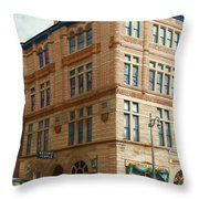 City - Chattanooga TN - 1943 - The Masonic Temple Throw Pillow by Mike Savad