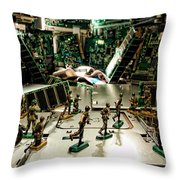 City Cyber Attack  Throw Pillow by Olivier Le Queinec