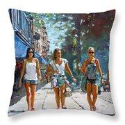 City Girls Throw Pillow by Ylli Haruni