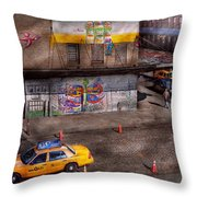 City - New York - Greenwich Village - Life's Color Throw Pillow by Mike Savad