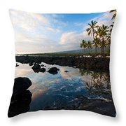 City Of Refuge Beach Throw Pillow by Mike Reid
