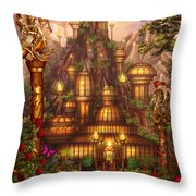 City Of Wands Throw Pillow by Ciro Marchetti