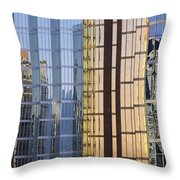 City Reflections Throw Pillow by Sandra Bronstein