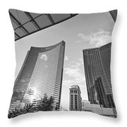 Citycenter - View Of The Vdara Hotel And Spa Located In Citycenter In Las Vegas  Throw Pillow by Jamie Pham