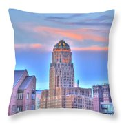 Cityscape Throw Pillow by Kathleen Struckle