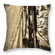 Civil War  Duty Belt Throw Pillow by Paul Ward