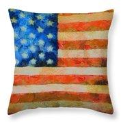 Civil War Flag Throw Pillow by Dan Sproul