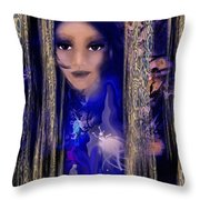 Clairvoyant Seven Throw Pillow by Patricia Motley