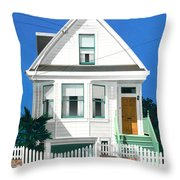 Clapperboard House Throw Pillow by David Holmes