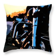 Classic Harley Throw Pillow by Michael Pickett