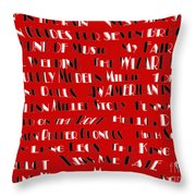 Classic Movie Musicals Throw Pillow by Andee Design