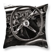 Classic Mustang Throw Pillow by Olivier Le Queinec