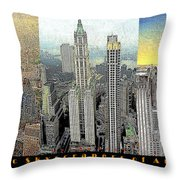 Classic Skyscrapers of America 20130428 Throw Pillow by Wingsdomain Art and Photography