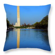 Classic Washington Throw Pillow by Olivier Le Queinec