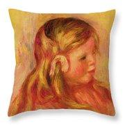 Claude Renoir Throw Pillow by Pierre Auguste Renoir