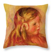Claude Renoir Throw Pillow by Pierre Auguste Renoir