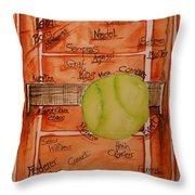 Clay Courters Throw Pillow by Elaine Duras