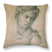 Cleopatra Throw Pillow by Michelangelo