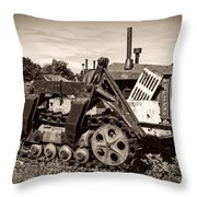 Cletrac Throw Pillow by Debra and Dave Vanderlaan