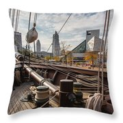 Cleveland From The Deck Of The Peacemaker Throw Pillow by Dale Kincaid