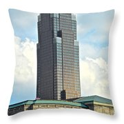 Cleveland Key Bank Building Throw Pillow by Frozen in Time Fine Art Photography