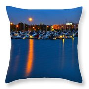 Cleveland Ohio Skyline Throw Pillow by Frozen in Time Fine Art Photography
