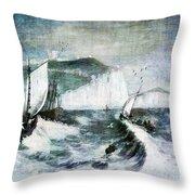 Cliffs Of Dover Throw Pillow by Lianne Schneider