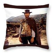 Clint Eastwood Outlaw Throw Pillow by Gianfranco Weiss