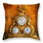 Clockmaker - Anyone Have The Time Throw Pillow by Mike Savad