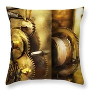 Clockmaker - We All Mesh Throw Pillow by Mike Savad