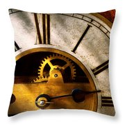 Clockmaker - What Time Is It Throw Pillow by Mike Savad