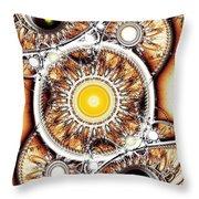 Clockwork Throw Pillow by Anastasiya Malakhova