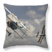 Close Encounter Throw Pillow by Pat Speirs