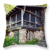 Closer View Of The Cabin Throw Pillow by Robert Margetts