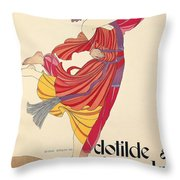 Clotilde And Alexandre Sakharoff Throw Pillow by George Barbier