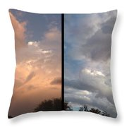 Cloud Diptych Throw Pillow by James W Johnson