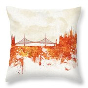 Clouds Over Budapest Hungary Throw Pillow by Aged Pixel
