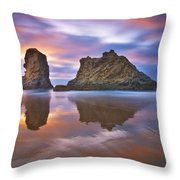 Coastal Cloud Dance Throw Pillow by Darren  White