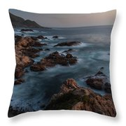 Coastal Tranquility Throw Pillow by Mike Reid