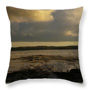 Coastal Winters Afternoon 3 Throw Pillow by Amy-Elizabeth Toomey